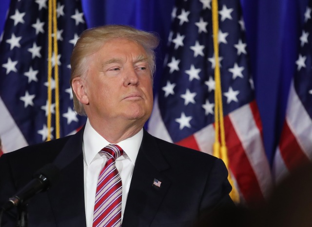 Republican Presidential Candidate Donald Trump Makes Primary Night Remarks
